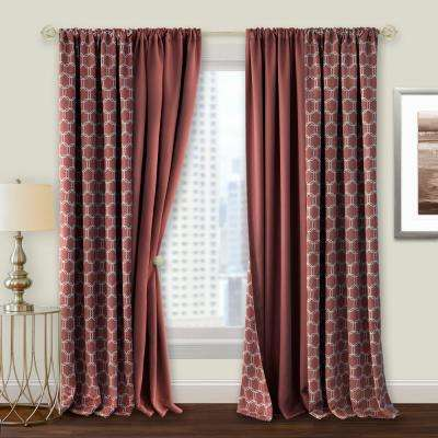 Red Curtains & Drapes Window Treatments The Home Depot