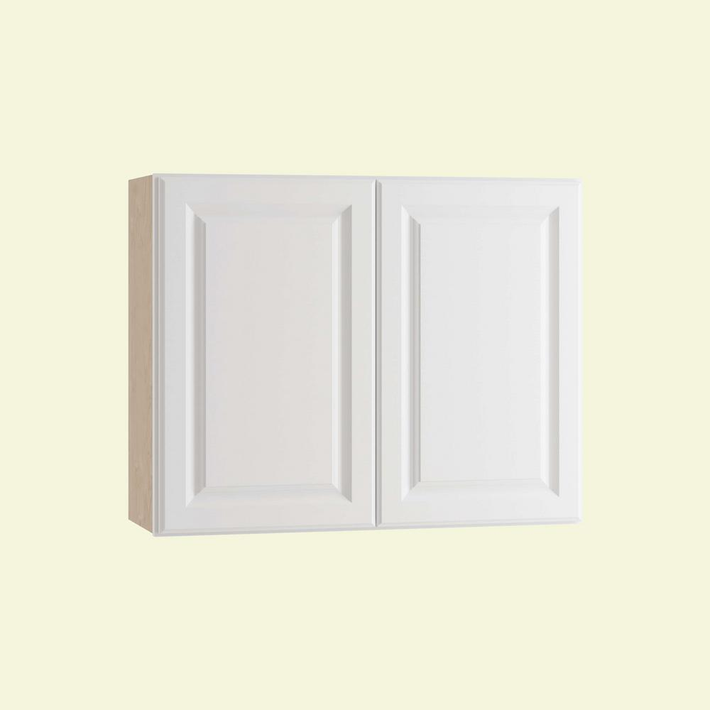Home Decorators Collection Hallmark Assembled 36x24x12 in. Wall Kitchen Cabinet with Double Doors in Arctic White