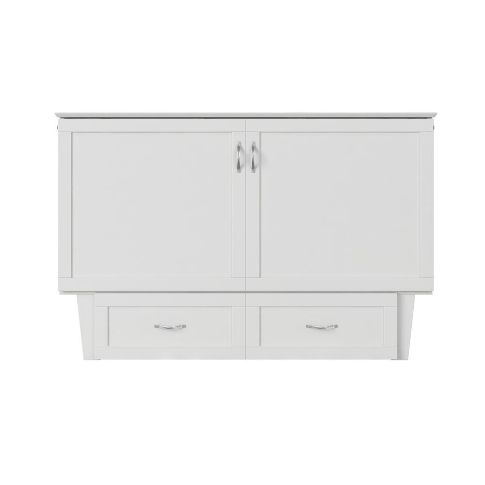 Atlantic Furniture Monroe White Queen Murphy Bed Chest ...