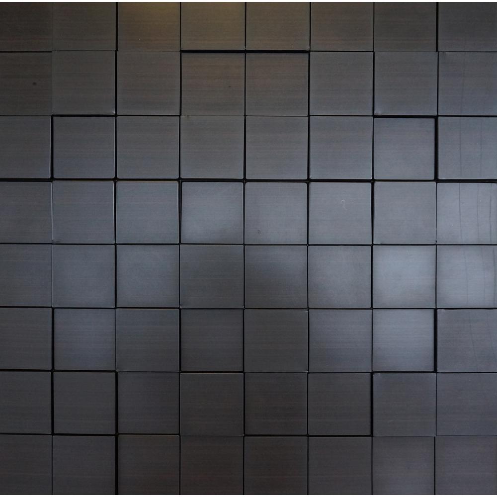 Harmony Cubes 24 in. x 24 in. Dark Okasha PVC Wall Panel