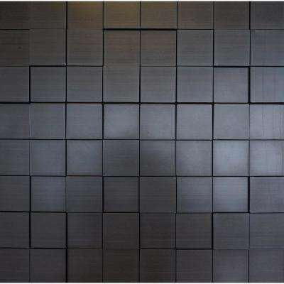 Harmony Cubes 24 in. x 24 in. Dark Okasha PVC Wall Panel