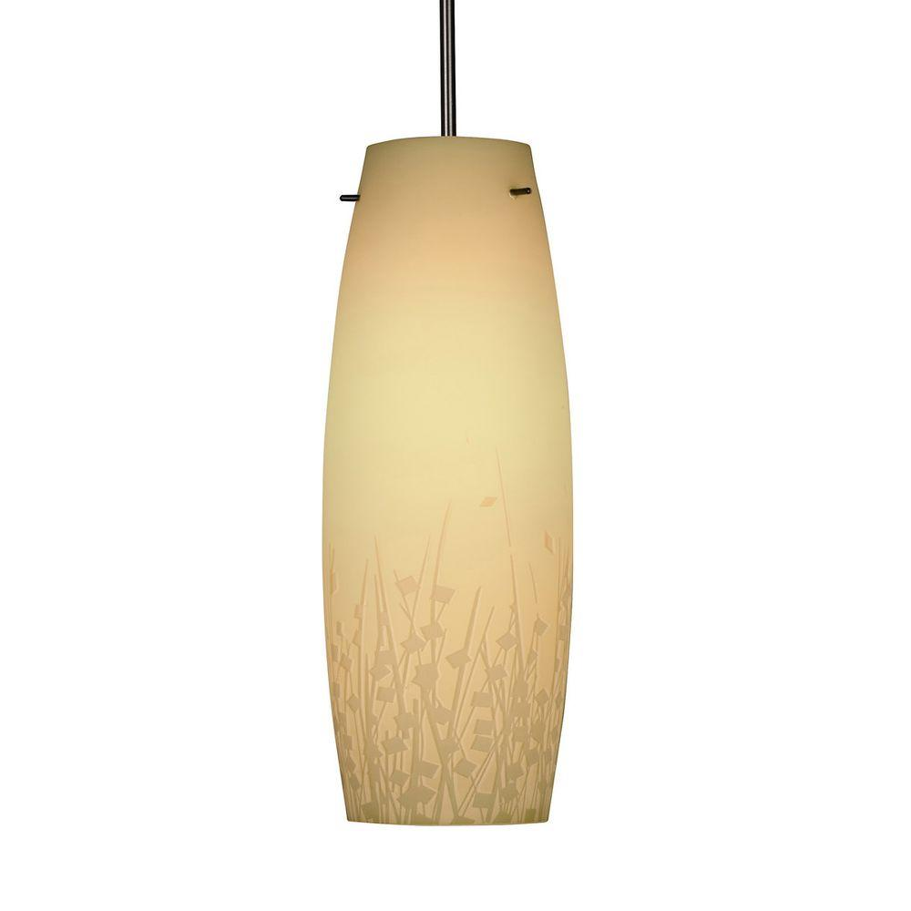 Aspects Nia 1-Light Cream Hanging Pendant