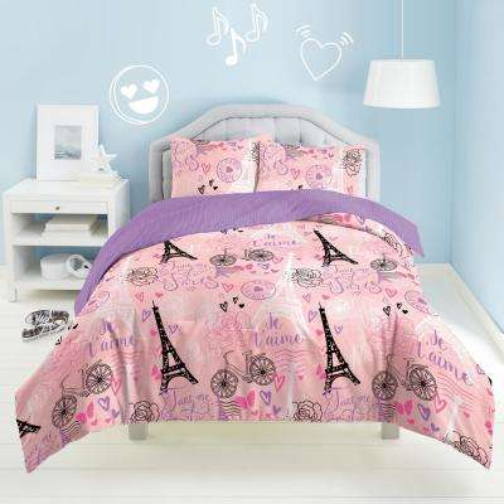 Je'Taime Paris 3-Piece Multicolored Full Comforter Set