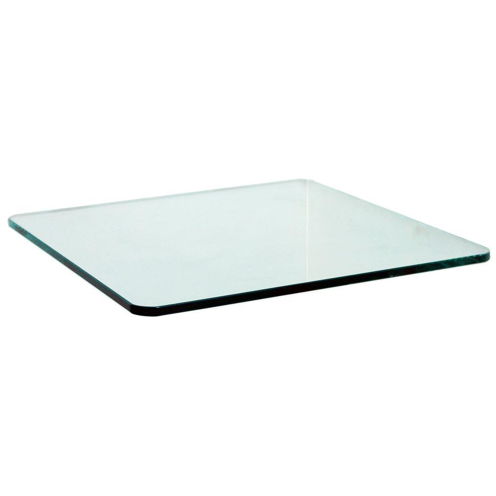 3/8 in. Square Glass Corner Shelf (Price Varies By Size)