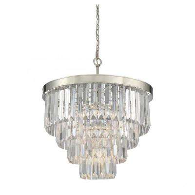 Lacey 6-Light Polished Nickel Chandelier