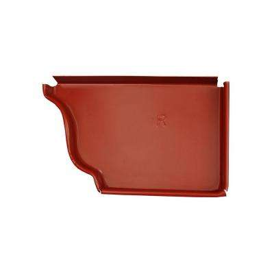 6 in. Red Aluminum Right End Cap