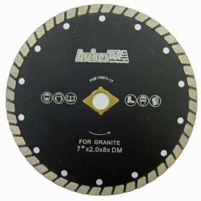7 in. Wide Turbo Diamond Blade for Stone and Masonry Cutting