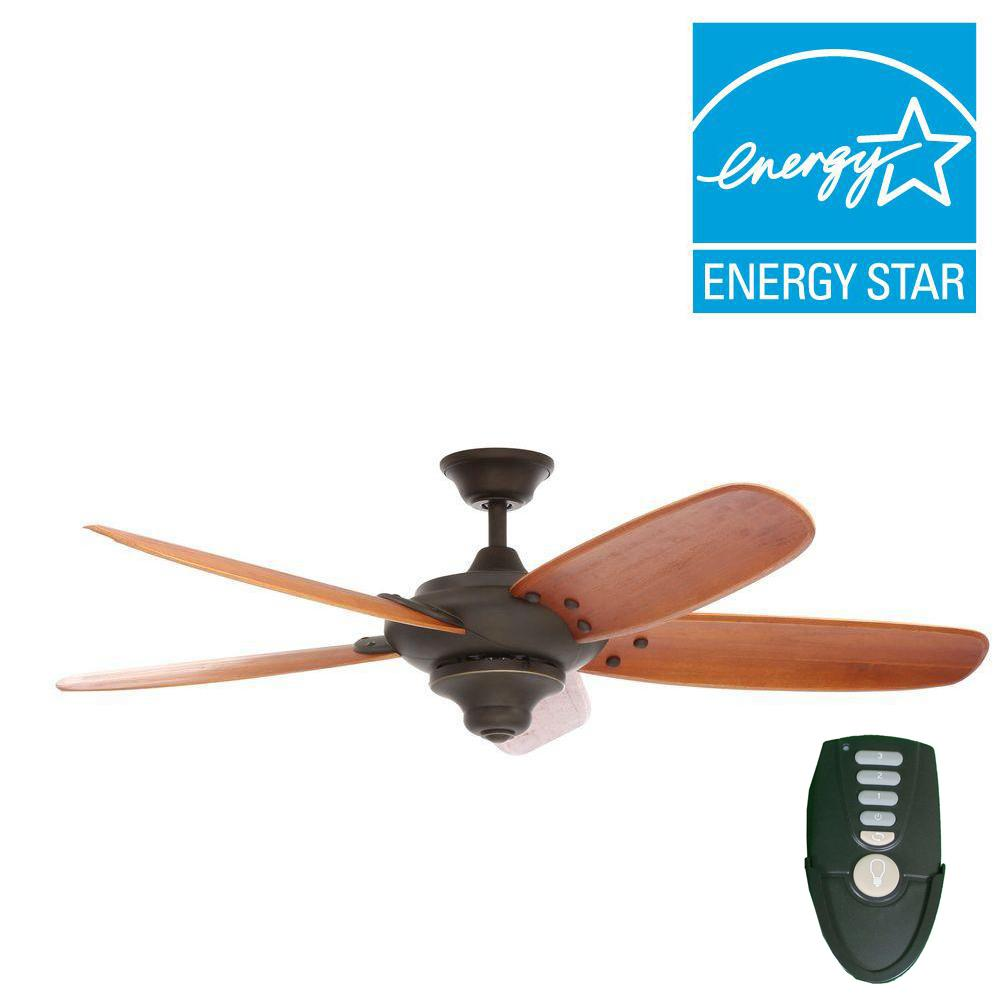 Home Decorators Collection Altura 56 in. Indoor Oil Rubbed Bronze Ceiling Fan with Remote ...
