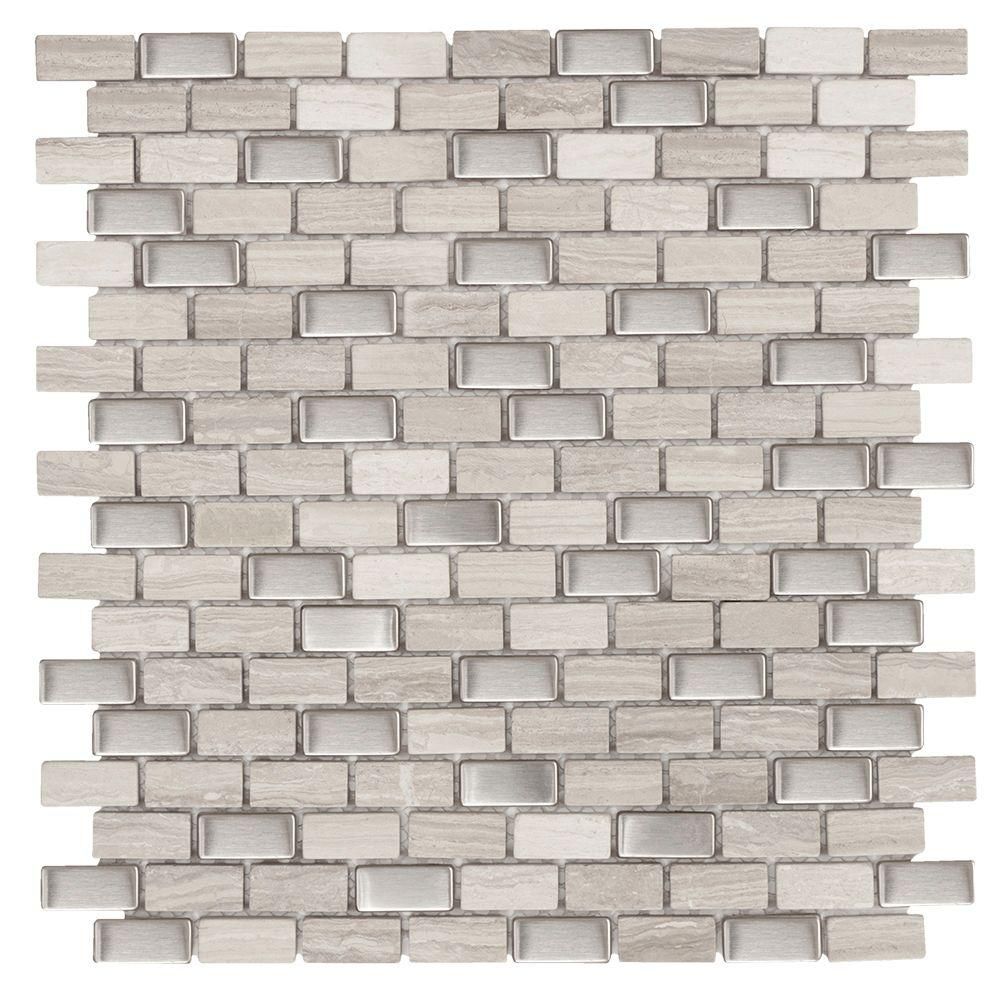 Jeffrey Court Brick Boulevard 11- 1/4 In. X 12 In. X 8 Mm