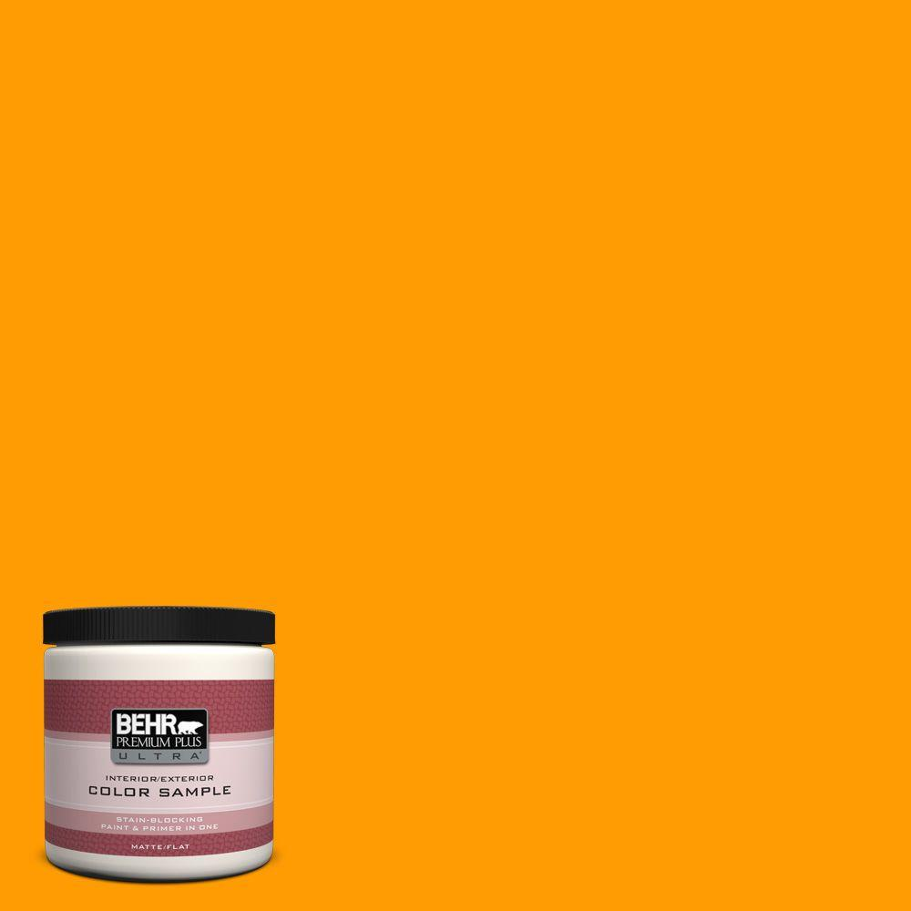 BEHR Premium Plus Ultra 8 oz. #S-G-320 Atomic Tangerine Interior/Exterior Paint Sample