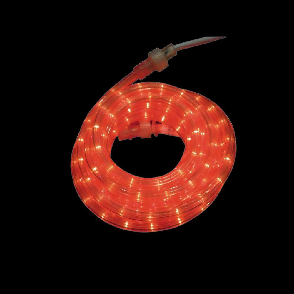 Rope Light Home Depot: Home Accents Holiday 18 Ft. 216-Light Red Rope Light-TY