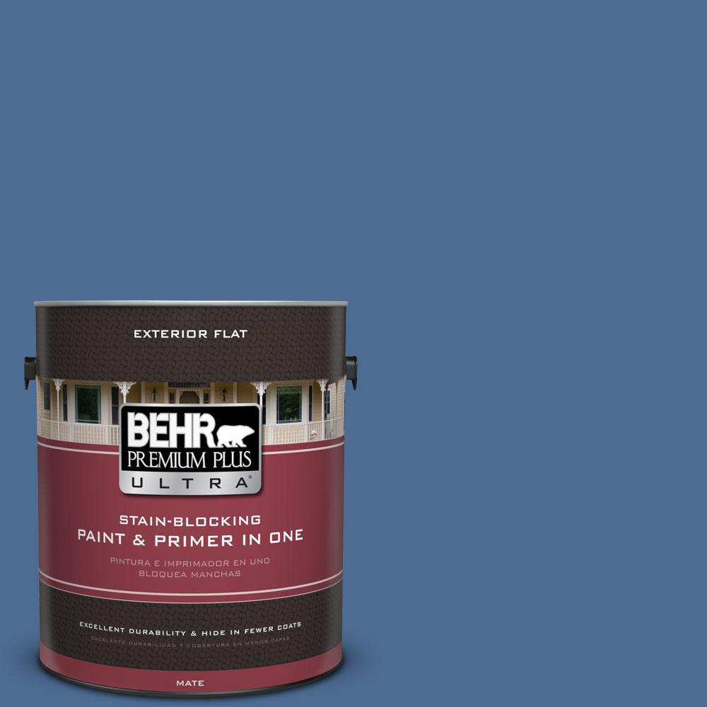 1-gal. #590D-6 Wickford Bay Flat Exterior Paint
