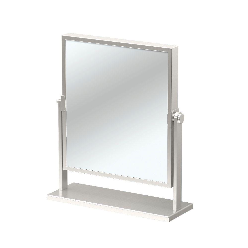 12 in. x 9.75 in. Single Elegant Table Mirror in Satin