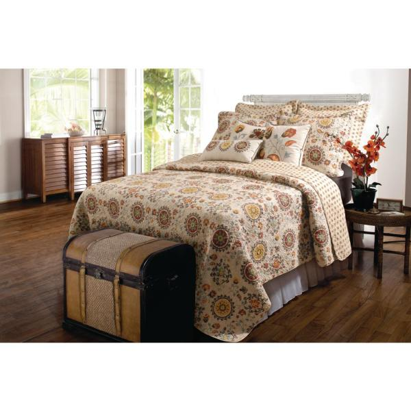 Andorra 3-Piece Multi King Quilt Set GL-1304AMSK