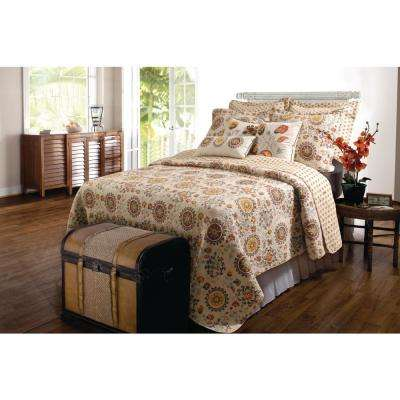 Andorra 3-Piece Multi Full and Queen Quilt Set