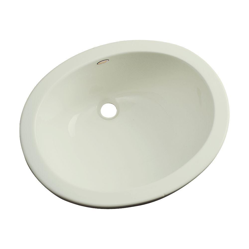 Thermocast Montera Undermount Bathroom Sink in Jersey Cream