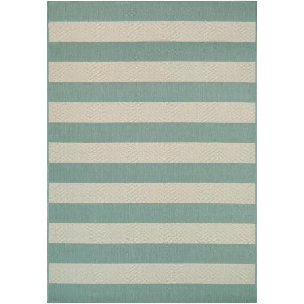 Afuera Yacht Club Sea Mist-Ivory 5 ft. x 8 ft. Indoor/Outdoor Area Rug