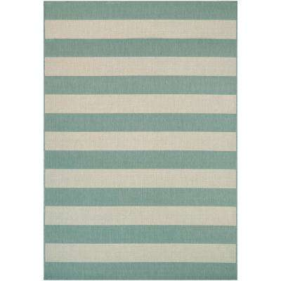 Afuera Yacht Club Sea Mist-Ivory 8 ft. x 11 ft. Indoor/Outdoor Area Rug