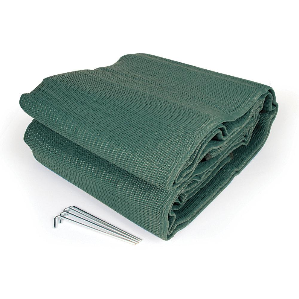 Camco Reversible Awning Leisure Mat In Green 42820 The Home Depot