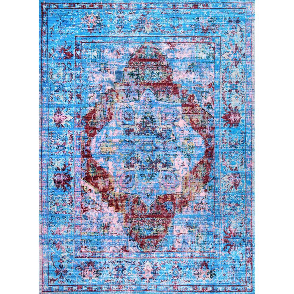 Shop Nuloom Traditional Persian Fancy Aqua Rug: NuLOOM Persian Fancy Moira Blue 9 Ft. X 12 Ft. Area Rug
