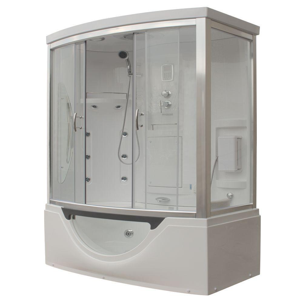 72 tub shower combo. Hudson Plus 72 In  X 39 88 Steam Shower Enclosure Planet Bathtub Combos Bathtubs The Home Depot