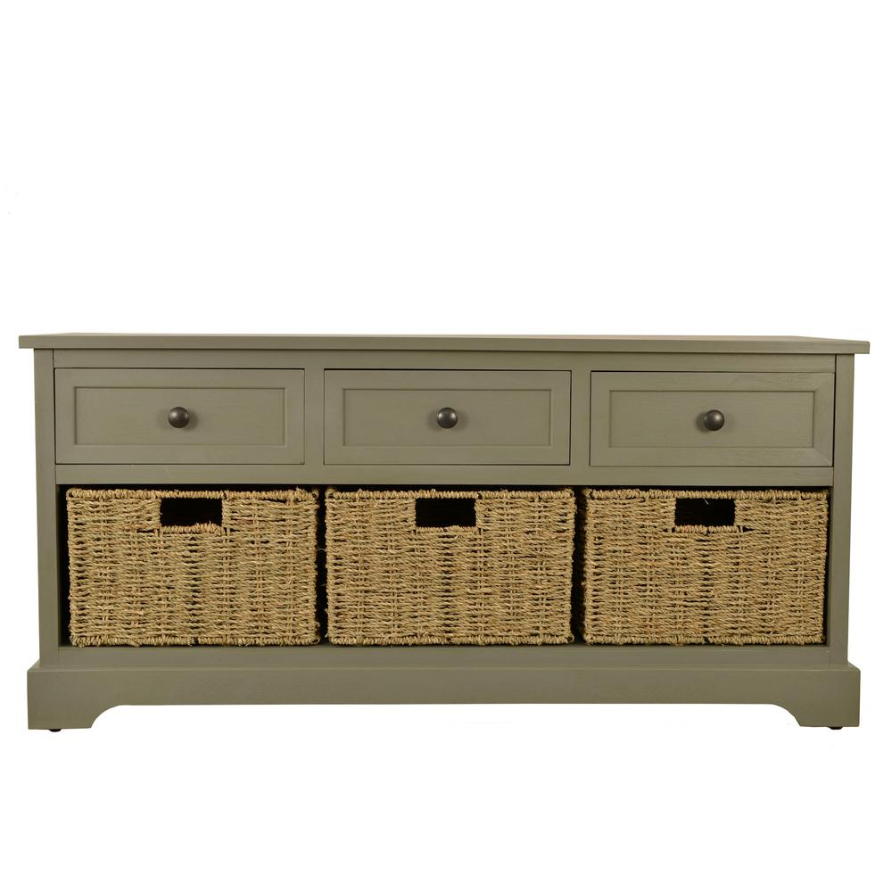 Montgomery Antique Gray Storage Bench