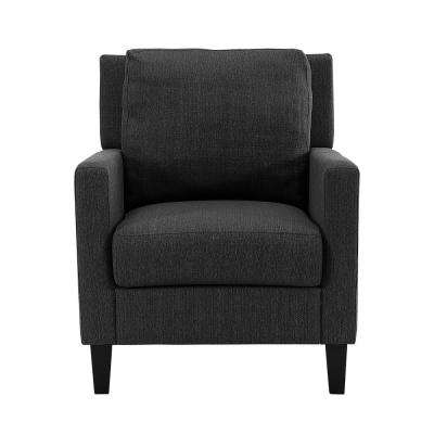 Charcoal Pillow Back Accent Chair