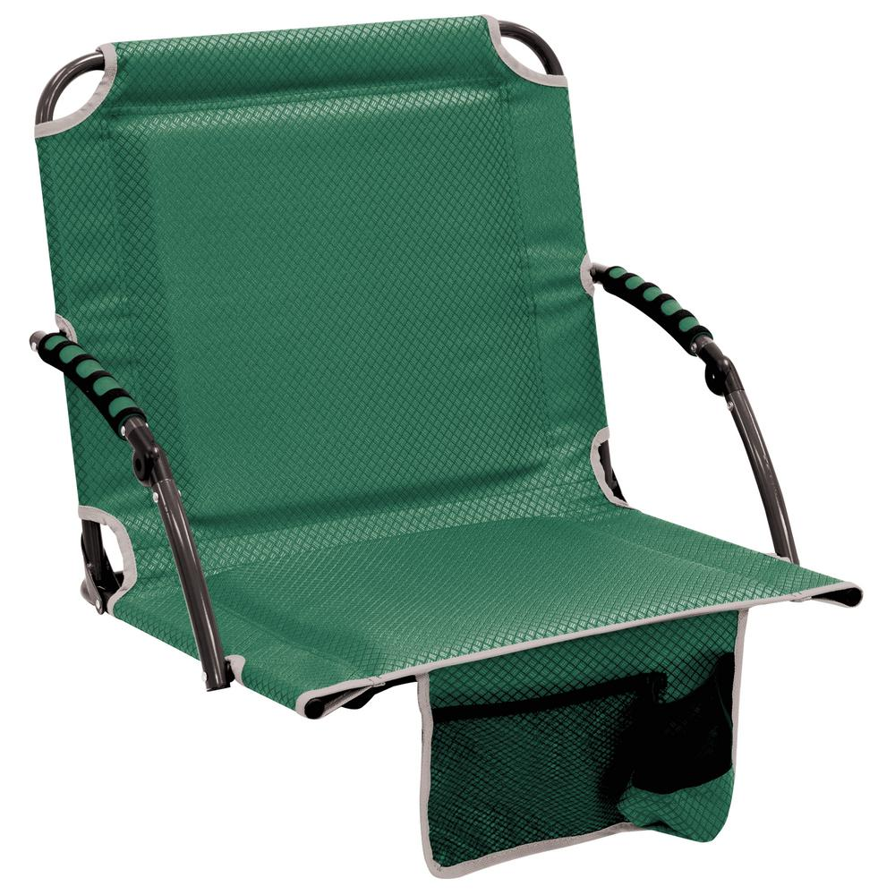 Pleasing Rio Bleacher Boss Pal Green Folding Stadium Seat With Padded Armrests Ibusinesslaw Wood Chair Design Ideas Ibusinesslaworg