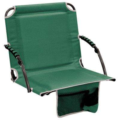 Bleacher Boss Pal Green Folding Stadium Seat with Padded Armrests