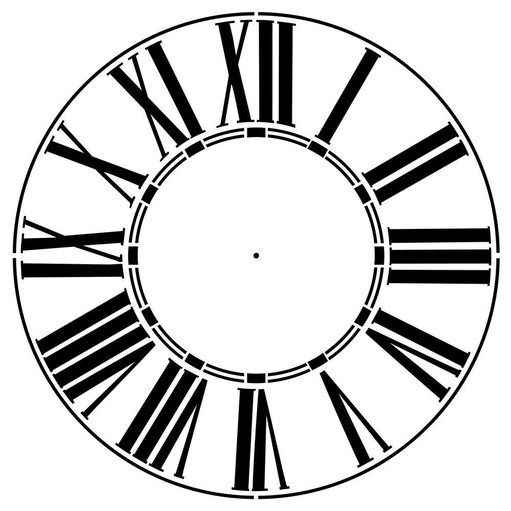 Thick Roman Numeral 18 in. Clock Stencil