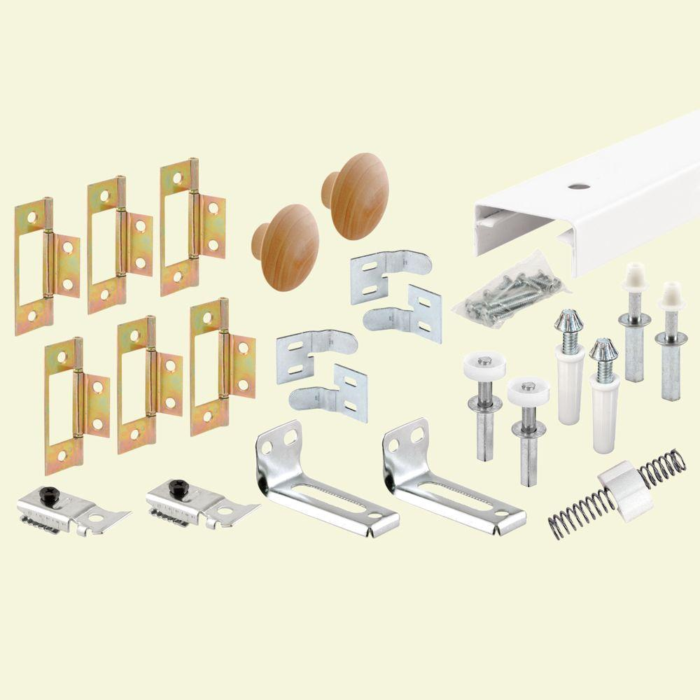 Prime-Line 8 in. Bi-folding Closet Door Track and Hardware Kit