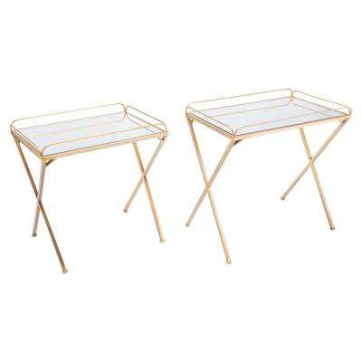 Opposite Gold Tables (Set of 2)