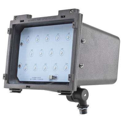 ProLED 25-Watt Bronze Outdoor Integrated LED Small Landscape Flood Light Fixture