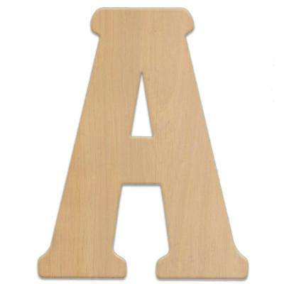 23 in. Oversized Unfinished Wood Letter (A)