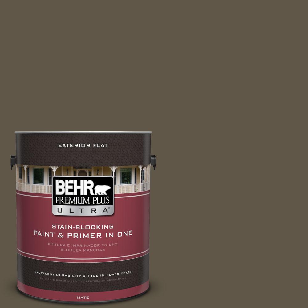 1-gal. #720D-7 Winter Oak Flat Exterior Paint