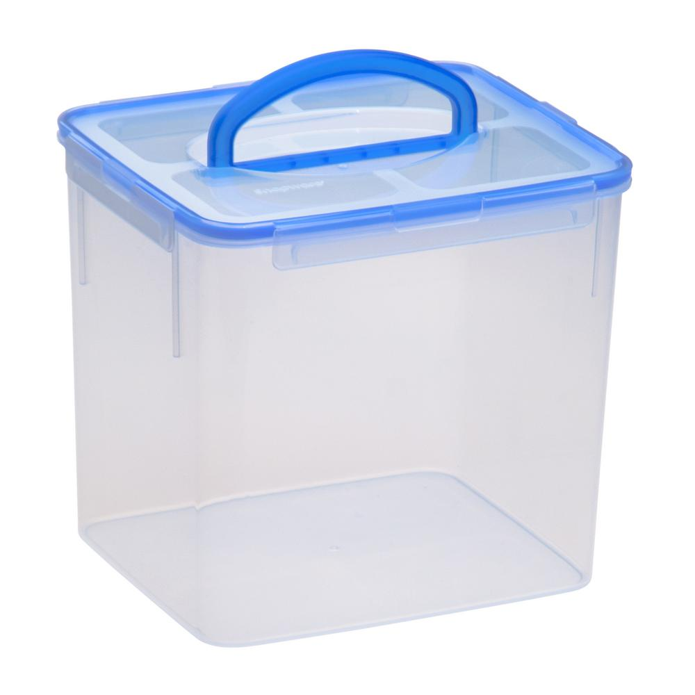 Large Food Storage Container Plastic Handle 40-Cup BPA Free Latch Airtight Lid  sc 1 st  eBay & Large Food Storage Container Plastic Handle 40-Cup BPA Free Latch ...