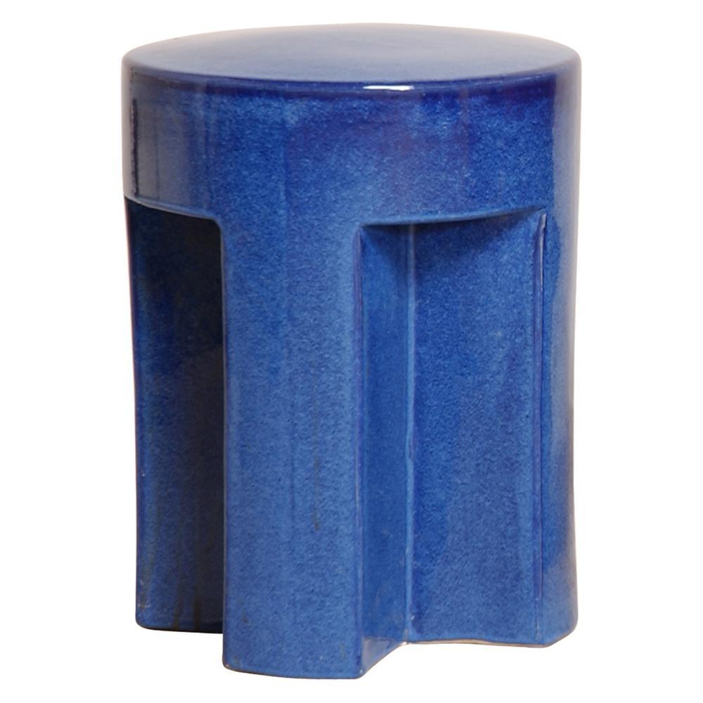 TX Blue Ceramic Garden Stool