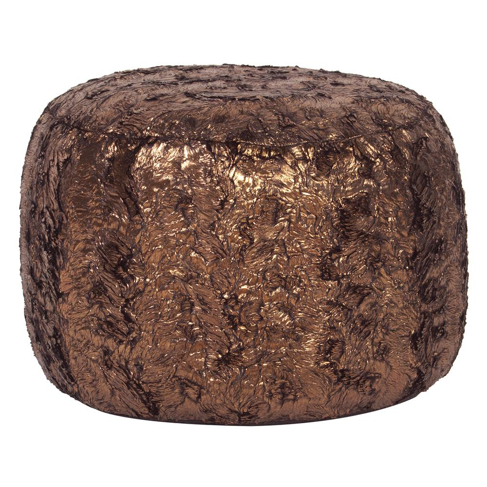 Tall Pouf Gold Cougar Ottoman-20-20 - The Home Depot