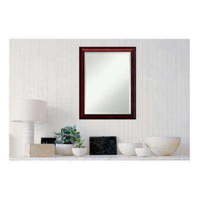 Rubino Cherry Scoop Wood 21 in. x 27 in. Traditional Framed Decorative Wall Mirror