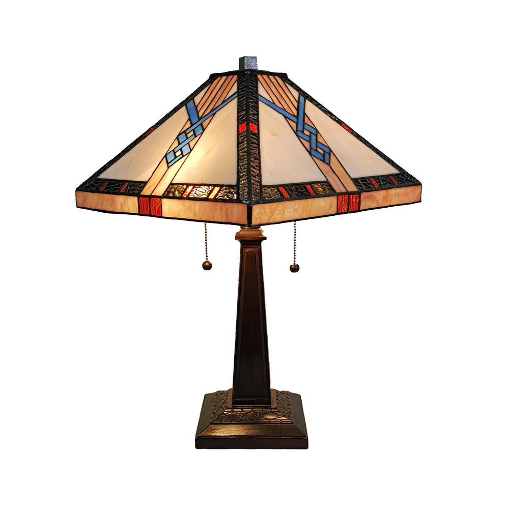 Amora Lighting 23 In Tiffany Style Mission Table Lamp