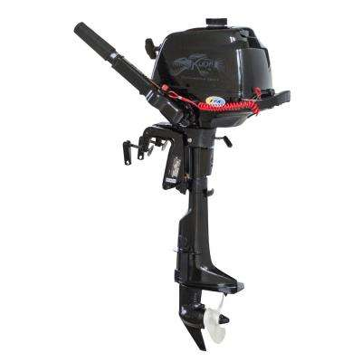 4-Stroke 2.6 HP 5500 RPM Horse Power Outboard Motor Tiller with 17 in. Shaft Length, Recoil Start