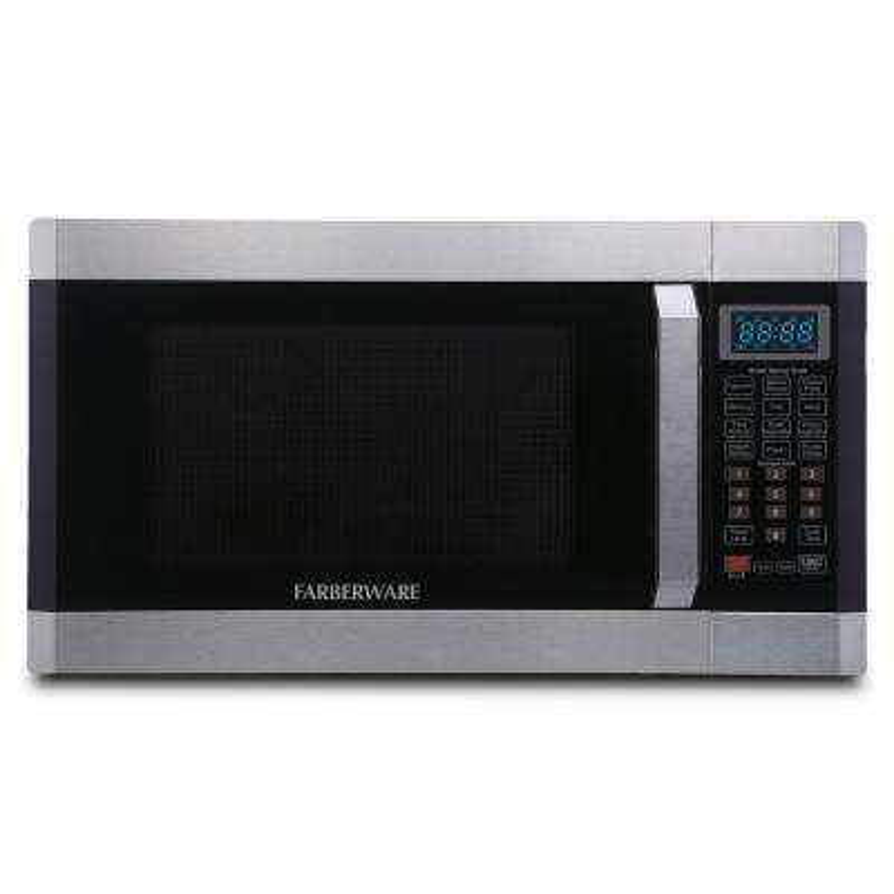 1.6 cu. Ft. 1100- Watt Countertop Microwave Oven with Smart Sensor in Stainless Steel with Platinum