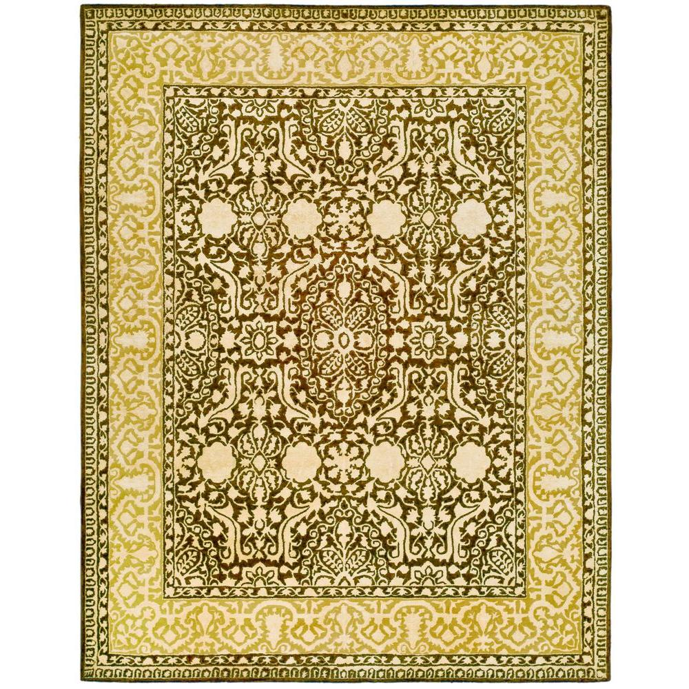 Silk Road Brown and Ivory 7 ft. 6 in. x 9