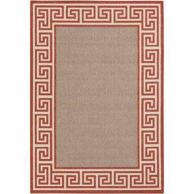 Bishorn Rust 7 ft. 6 in. x 10 ft. 9 in. Indoor/Outdoor Area Rug