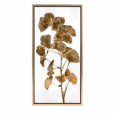 Light brown Wall Art Trisha Yearwood Luxe Ginkgo Oil Painting Framed