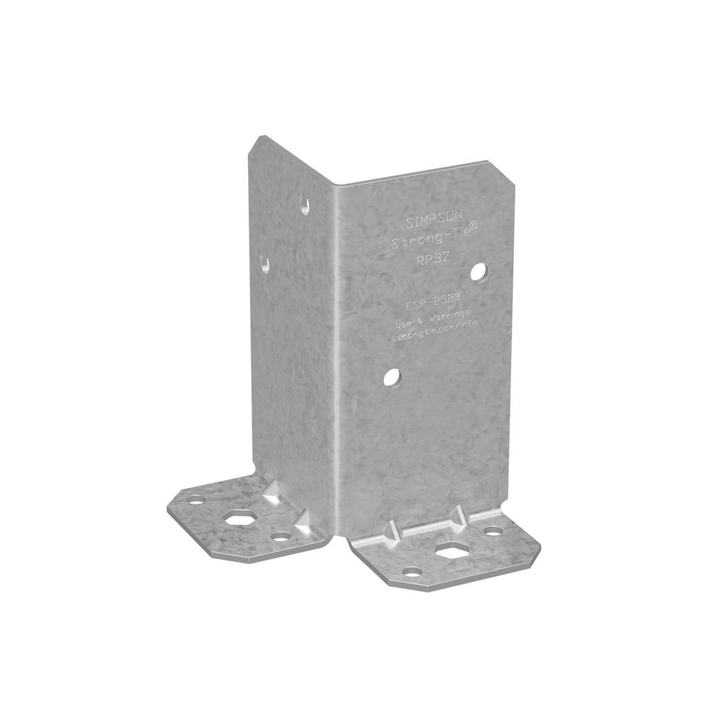 Simpson Strong-Tie RPBZ ZMAX Galvanized Retrofit Post Base for