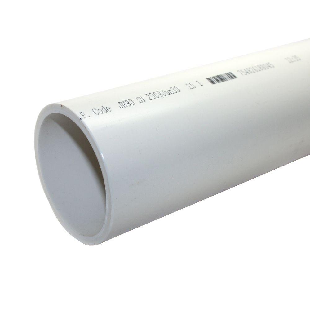 6 in. x 10 ft. PVC Sch. 40 DWV Plain End Pipe