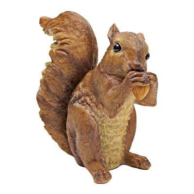 6.5 in. H Woodland Squirrel Chomper Statue