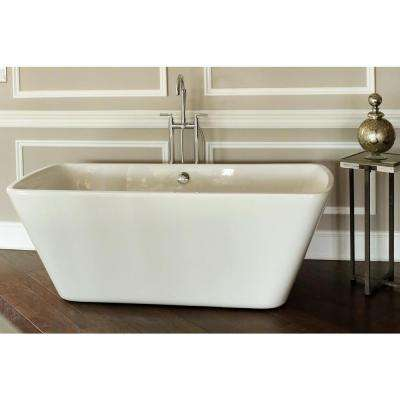 Reclaim 5.6 ft. Acrylic Rectangle Flatbottom Non-Whirlpool Bathtub in White