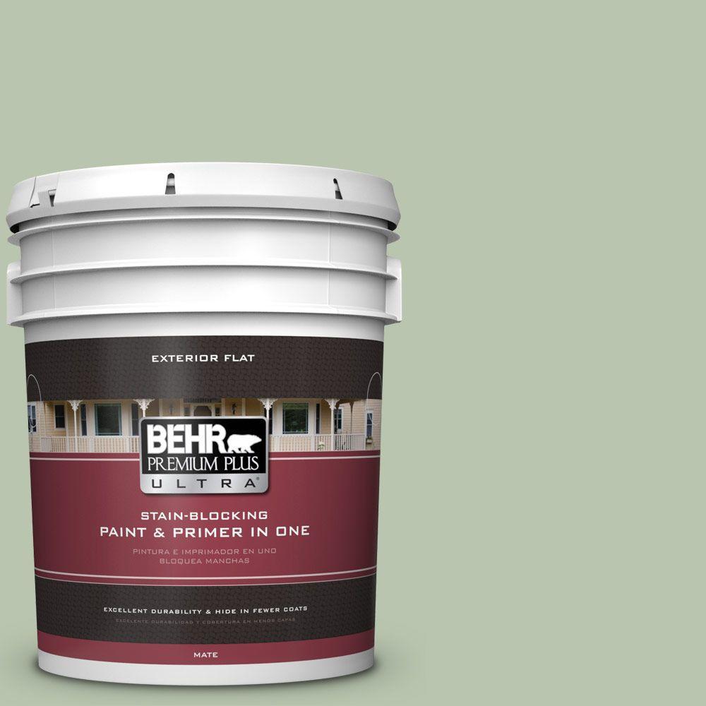 BEHR Premium Plus Ultra 5-gal. #PPU11-10 Whitewater Bay Flat Exterior Paint